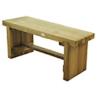 more details on Forest Wooden Double Sleeper Bench - 1.2m.