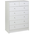 more details on HOME New Malibu 5 Wide 2 Narrow Drawer Chest - White.