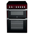 more details on Indesit ID60C2R Electric Cooker with Double Oven - Red.