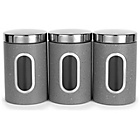 more details on Salter Marble Effect 3 Piece Storage Set - Grey.