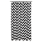 more details on HOME Chevron Shower Curtain - Black.