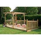 more details on Forest Larchlap Ultima Pergola and Patio Kit.
