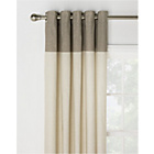more details on HOME Dublin Unlined Eyelet Curtains - 117 x 137cm - Natural.