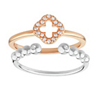 more details on Virtue Silver and Rose Gold Plated Silver Ring - Set of 2.