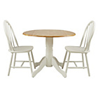 more details on Collection Kentucky Drop Leaf Table and 2 Chairs - Two Tone