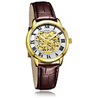 more details on Rotary Men's Gold Plated Skeleton Strap Watch.