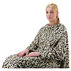 more details on Gold Rush Leopard Print Blanket with Sleeves.