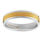 more details on 9ct Gold and Sterling Silver 6mm Milgrain Wedding Ring.