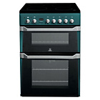 more details on Indesit ID60C2N Electric Cooker with Double Oven - Blue.