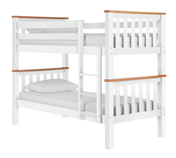 buy collection heavy duty bunk bed frame white and pine at your online shop for. Black Bedroom Furniture Sets. Home Design Ideas