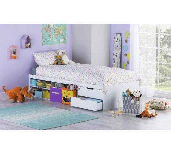 Buy Callum Cabin Bed With Pull Out Desk Ashley Mattress