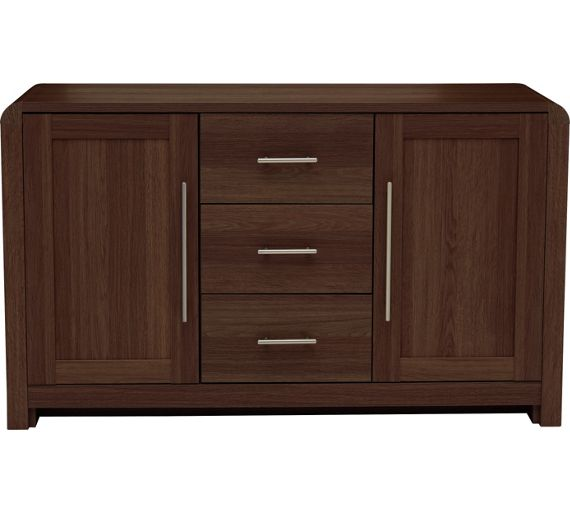 Buy heart of house elford 3 drawer sideboard walnut Walnut effect living room furniture