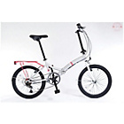 more details on Universal Wayfarer 20 Inch Folding Bike - Silver/Pink