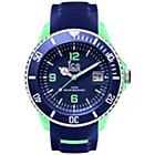 more details on Ice Men's Navy and Green Silicone Strap Watch.
