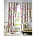 Avril Lined Eyelet Curtains - 165x229cm - Berry