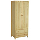 more details on HOME New Scandinavia 2 Door 2 Drawer Wardrobe - Pine.