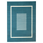 more details on HOME Maestro Square Border Rug - 160x120cm - Teal.