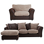 more details on HOME New Bailey Reg Left Corner Sofa and Snuggler Chair -Nat