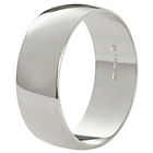 more details on Fairtrade 9ct White Gold 6mm D-Shape Wedding Ring.