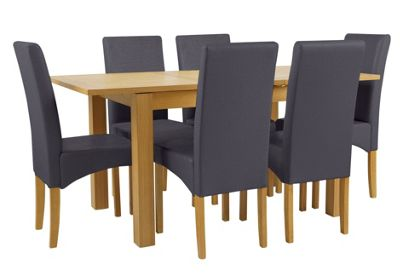 Buy Collection Swanbourne Oak Veneer Table amp 6 Chairs  : 5432422RSETTMBampwid620amphei620 from www.argos.co.uk size 620 x 620 jpeg 23kB