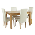 more details on Swanbourne Extendable Table and 4 Cream Chairs.