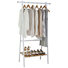 more details on HOME Foldable Clothes Rail - White.