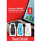 more details on SanDisk Cruzer Blade USB 2.0 Flash Drives - 8GB - Pack of 3