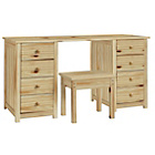 more details on HOME New Scandinavia Dressing Table and Stool - Pine.