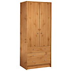 more details on HOME New Malibu 2 Door 3 Drawer Robe - Pine Effect.