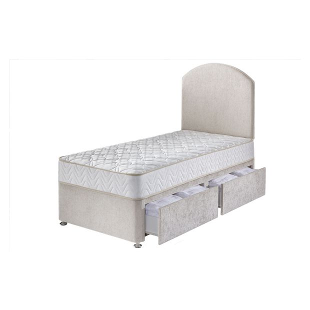 Buy airsprung taunton 1200 pocket sprung single 2 drawer divan at your online shop Argos single divan beds