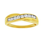 more details on 9ct Gold Cubic Zirconia Crossover Eternity Ring.