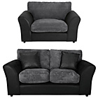 more details on HOME New Bailey Regular Sofa and Snuggler Chair - Charcoal.