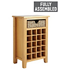 more details on Collection Somerby Wine Unit with Seagrass Basket - Oak.