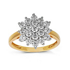 more details on 9ct Gold Cubic Zirconia Round Cluster Ring.
