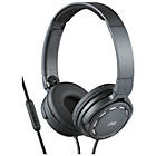 more details on JVC HA-SR525 On-Ear Headphones with Mic and Remote - Black.
