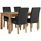 more details on Collection Hampshire Extendable Table and 4 Black Chairs.