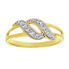 more details on 9ct Gold Cubic Zirconia Double Crossover Split Ring.