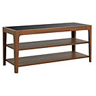 more details on Hygena TV Unit with 2 Fixed Shelves - Walnut Effect.
