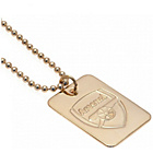 more details on Gold Plated Arsenal Dog Tag & Ball Chain.
