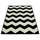 Chevron Rug - 60x110cm - Black and White