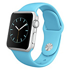 more details on Apple Watch 2015 Sport 38mm Silver Case with Royal Blue Band