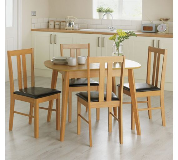 Buy HOME Witley Extendable Table and 4 Chairs - Solid Oak ...