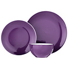 more details on ColourMatch Two Tone 12 Piece Dinner Set - Purple Fizz.
