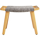 more details on Collection Tulwar Fabric Footstool - Grey.