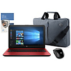 "more details on HP 15"" Intel Pentium 4GB 1TB Red - Inc Bag, Mouse & McAfee"