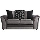 more details on Collection Rhiannon Reg Fabric/Leather Effect Sofa - Black.