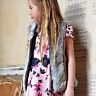 more details on Cherokee Girls Faux Fur Gilet Grey.