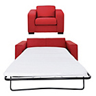 more details on Hygena Ava Fabric Sofa Bed and Chair - Red.