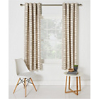 more details on HOME Dabble Unlined Eyelet Curtains - 117 x 183cm - Natural.