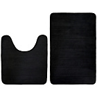 more details on Memory Foam 2 Piece Bathroom Mat Set - Black.